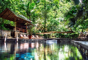 Arenal 4 in 1 Tour - Safari Float + La Fortuna Waterfall + Arenal Volcano Hike + Eco Termales Hot Springs