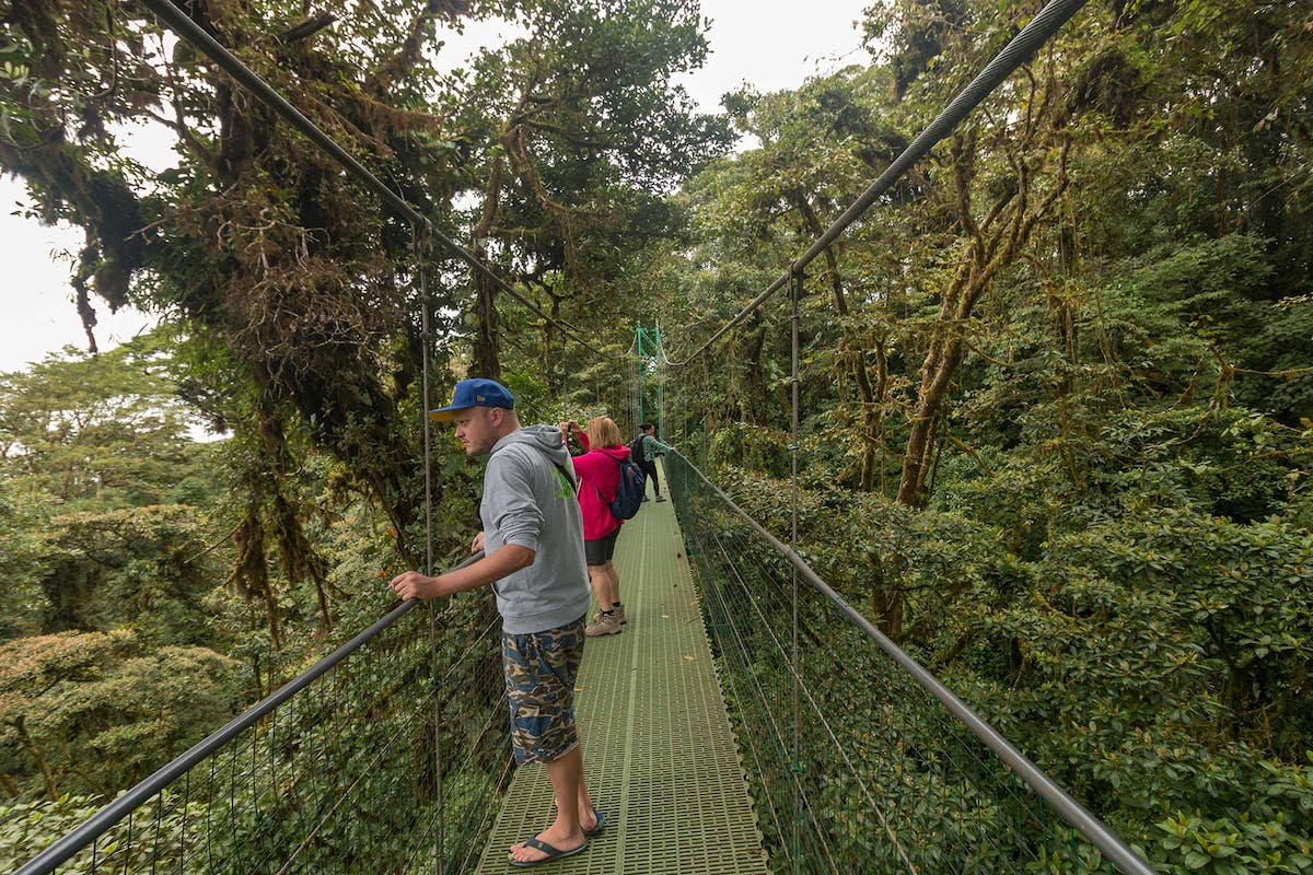 Hiking at Sky Walk Monteverde