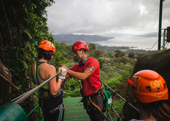 Sky Tram and Sky Trek Arenal Ziplines