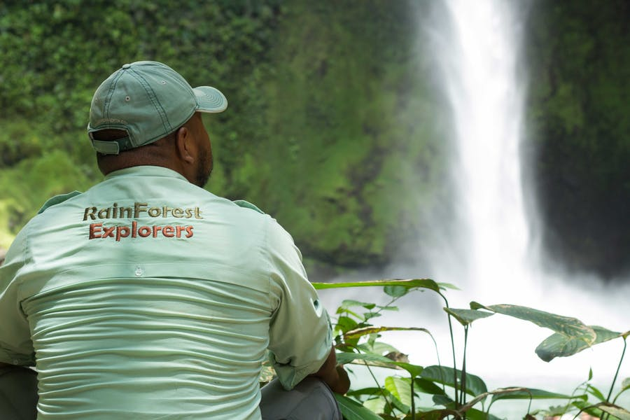 Rainforest Explorers Guide seeing La Fortuna Waterfall