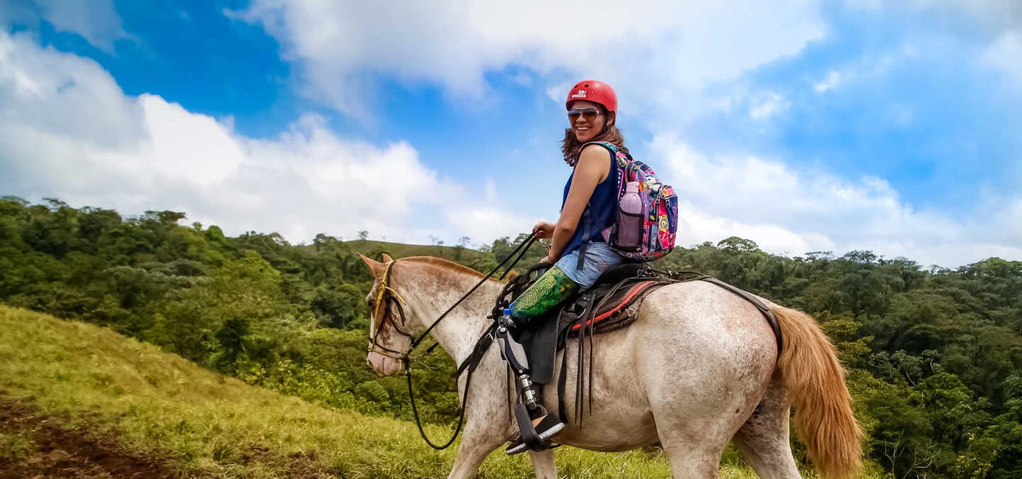 That's right! Horseback riding is an excellent way to explore the rainforest by the Arenal Volcano and Don Tobias is the perfect tour for you.