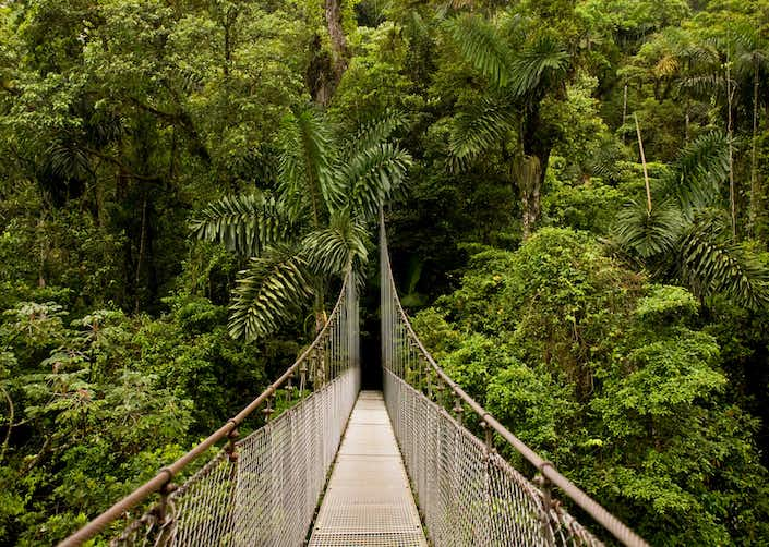 3 in 1 Hanging Bridges + Waterfall and Volcano Hike